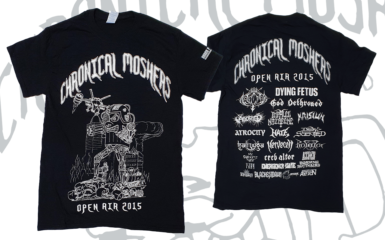CHRONICAL MOSHERS OPEN AIR 2015 - T-Shirt