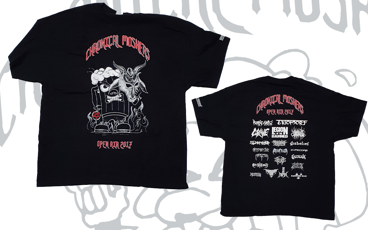 CHRONICAL MOSHERS OPEN AIR 2017 - T-Shirt