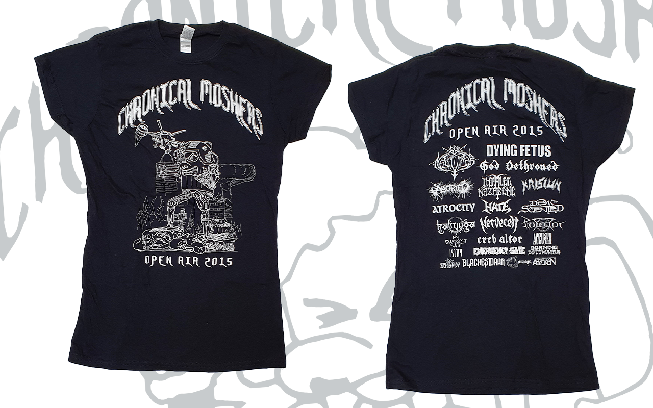 CHRONICAL MOSHERS OPEN AIR 2015 - Lady T-Shirt